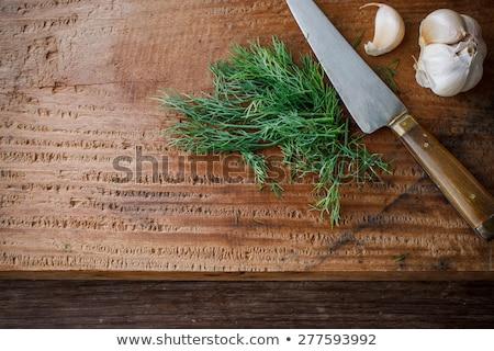 Taze organik pişirmek ahşap bıçak Stok fotoğraf © Virgin