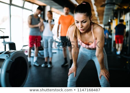 Nő pihen sportok portré étel fitnessz Stock fotó © IS2