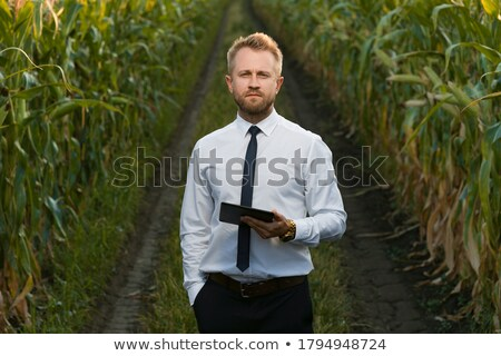 Zakenman permanente landelijk weg business man Stockfoto © IS2