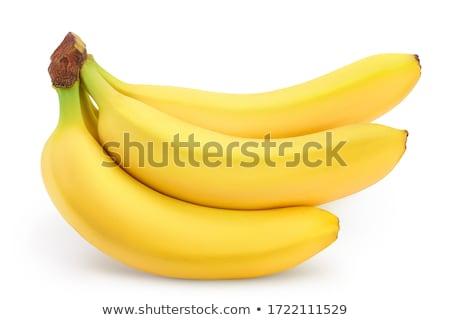 Bos Geel bananen geïsoleerd witte Stockfoto © Givaga