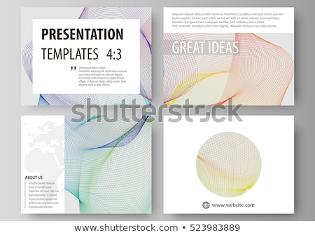 stylish annual brochure presentation template with colorful wave Stock photo © SArts