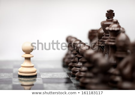One alone pawn Stock photo © ajfilgud
