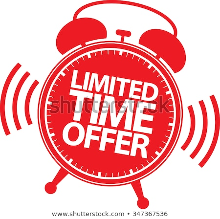 Limited time offer sticker - ringing alarm clock, sale symbol Stock photo © gomixer