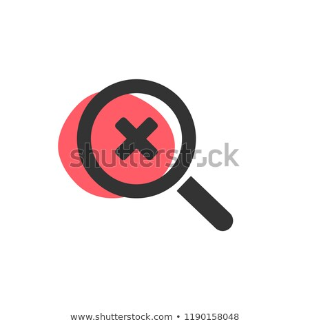 Loupe regarder isolé icône web affaires croix Photo stock © Imaagio