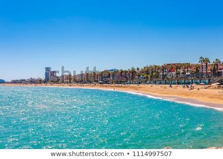 kilátás · tengerpart · Barcelona · Spanyolország · egy · népszerű - stock fotó © neirfy