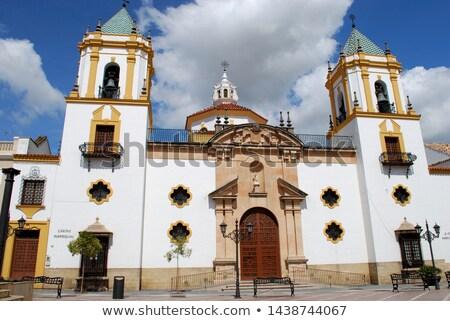 Parish of Nuestra Senora del Socorro on Plaza del Socorro in Ron Stock photo © benkrut