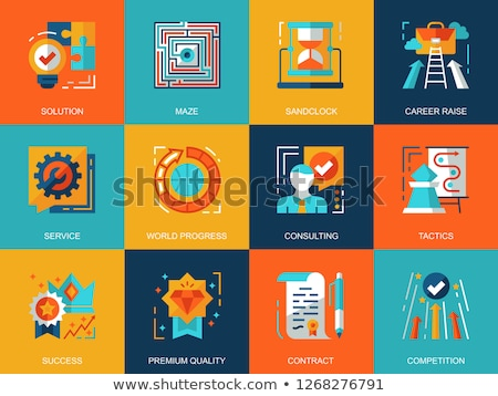 Finding a solution - flat design style colorful illustration Stock photo © Decorwithme