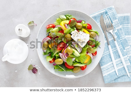 Verduras frescas ensalada vegetales alimentos verde Foto stock © YuliyaGontar