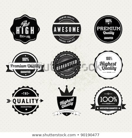 Vector retro stamp, sticker, tag, label, badge on white backgrou Stock photo © kyryloff