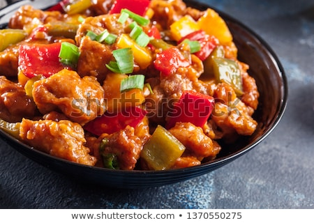 asian chicken in a sweet and sour sauce stock photo © alex9500