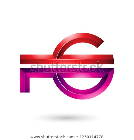 Red and Magenta Abstract Key-like Symbol Vector Illustration Stock photo © cidepix