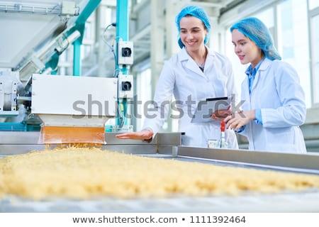 新鮮な · 肉 · 冷たい · カット · 工場 · 豚 - ストックフォト © grafvision