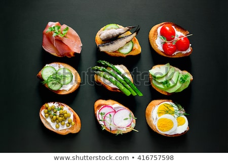 assorted of canape and toast Stock photo © M-studio