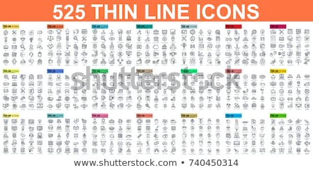 E-commerce and Online Business Linear Icons Set Stock photo © robuart