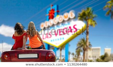 couple driving in convertible car at las vegas Stock photo © dolgachov