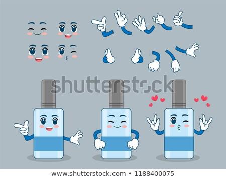 Fericit apă plastic sticlă mascota de desene animate Imagine de stoc © hittoon