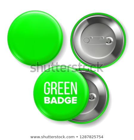 Groene badge vector pin broche Stockfoto © pikepicture