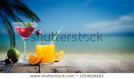 Resort Cocktails Stock photo © cmcderm1