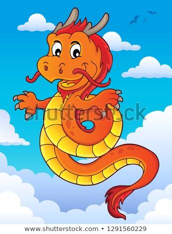 Dragão chinês tópico imagem nuvem chinês dragão Foto stock © clairev