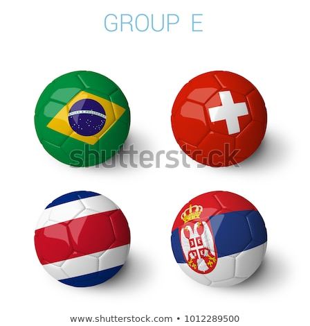 Soccer football ball with Serbia flag Stock photo © daboost
