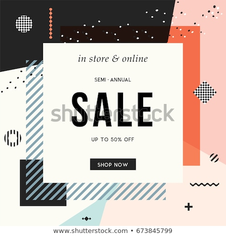 modern sale banners in memphis style Stock photo © SArts