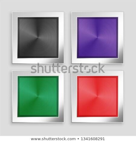 four brushed metallic buttons in different colors Stock photo © SArts