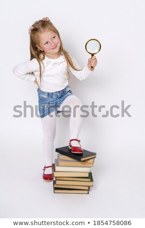 Person Holding Magnifying Glass Over Foot Stock photo © AndreyPopov