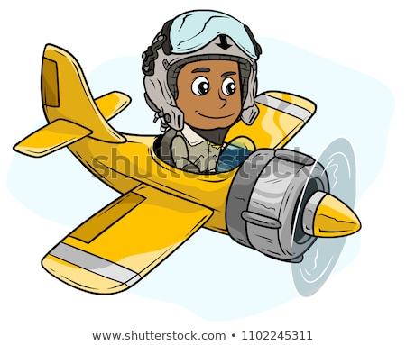 vector pilot cartoon character Stock photo © VetraKori