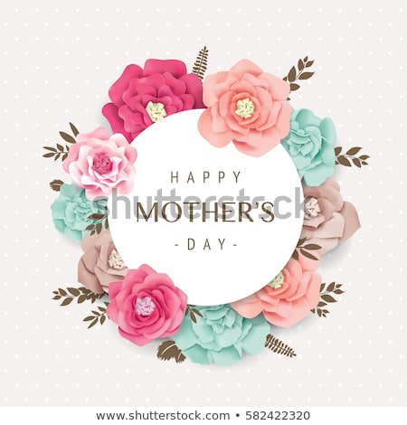 happy mother's day decorative leaves greeting Stock photo © SArts