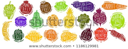 vegan · piac · felirat · zöld · szalag · szív - stock fotó © robuart