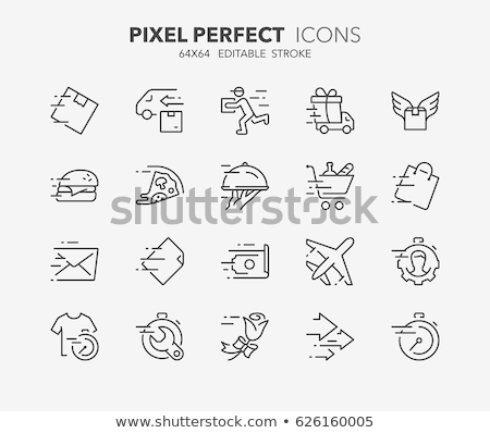 laundry service delivery vector thin line icon stock photo © pikepicture