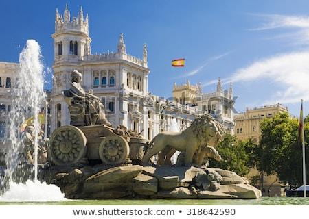 fonte · Madri · Espanha · edifício · cidade · azul - foto stock © borisb17