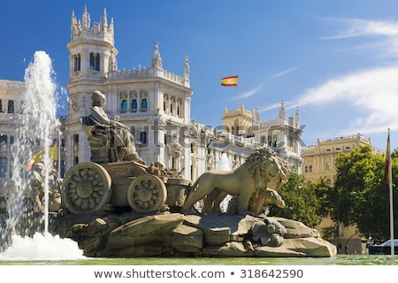 Palais Madrid Espagne fontaine communication histoire Photo stock © borisb17