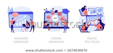 Codificación taller script escrito software ingeniería Foto stock © RAStudio