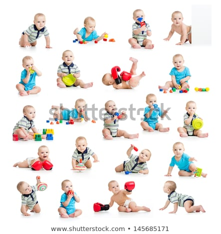 set of funny children toys on white background stock photo © robuart