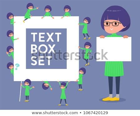 zöld · ruházat · szemüveg · szett · lány - stock fotó © toyotoyo