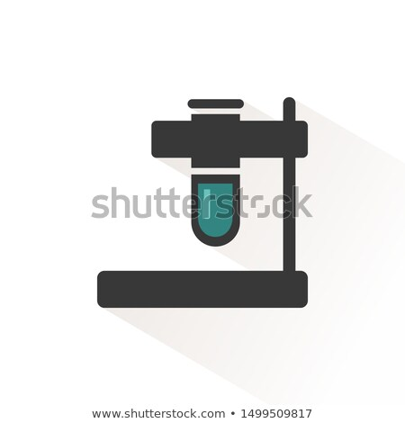 Test tube color icon with beige shade. Pharmacy and laboratory vector illustration Stock photo © Imaagio