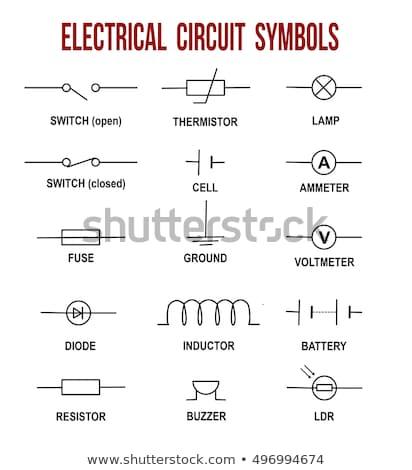 Elektromos elektronikus áramkör diagram szimbólumok szett Stock fotó © ukasz_hampel