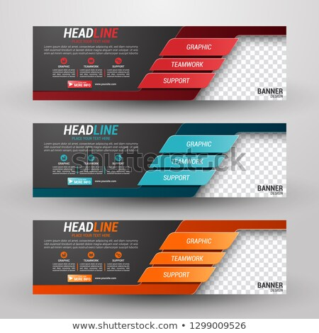 Event agency offers vector colorful banner template Stock photo © Decorwithme