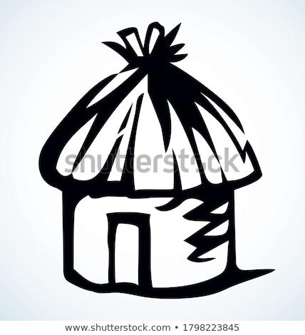 Retro reed silhouette logo Stock photo © barsrsind