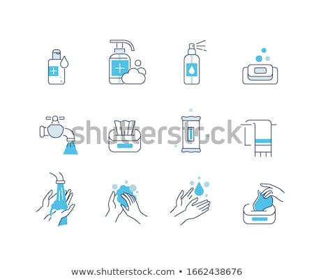 Mano saludable higiene colección vector Foto stock © pikepicture