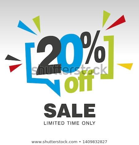 Büyük satış indirim alışveriş 20 yüzde Stok fotoğraf © robuart