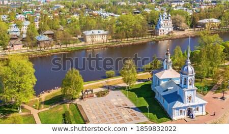 Embankment of the Vologda river, Russia Stock photo © borisb17