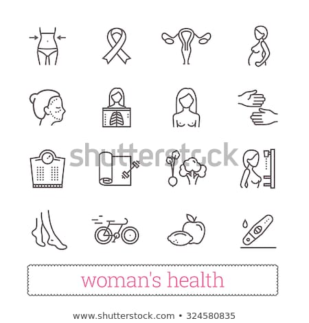 Pregnancy - vector line design style icons set Stock photo © Decorwithme