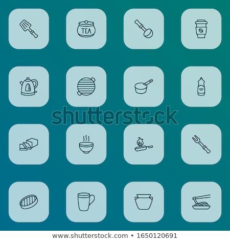 Aardewerk spatel icon vector schets illustratie Stockfoto © pikepicture
