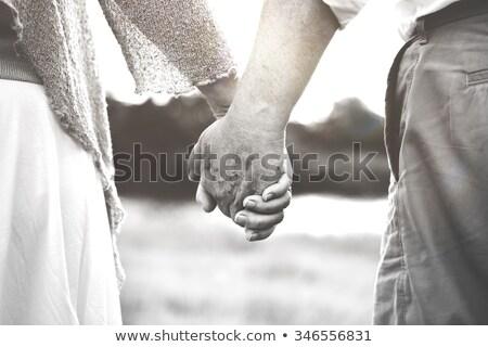 Emberek kapcsolatok együttlét szeretet gyönyörű gyönyörű nő Stock fotó © vkstudio