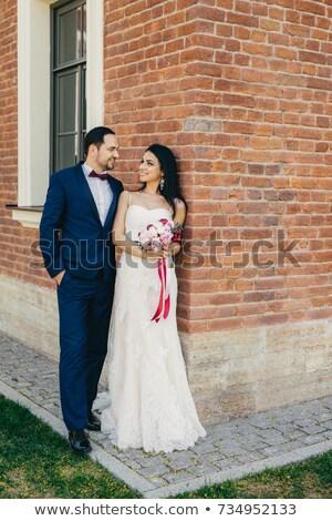 Knap mannelijke bruidegom groot liefde Stockfoto © vkstudio