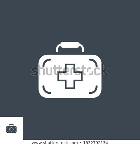 Eerste hulp uitrusting vector icon geïsoleerd witte Stockfoto © smoki