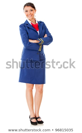 air hostess isolated on white Stock photo © smeagorl