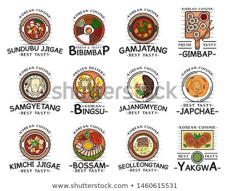 ramen noodles and gimbap meal national korean food Stock photo © galitskaya